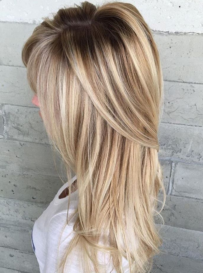 9 blonde hairstyle with root fade