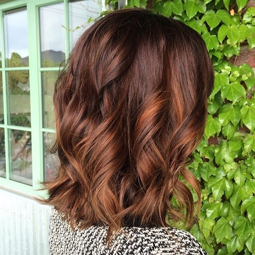 9 brown lob with copper highlights