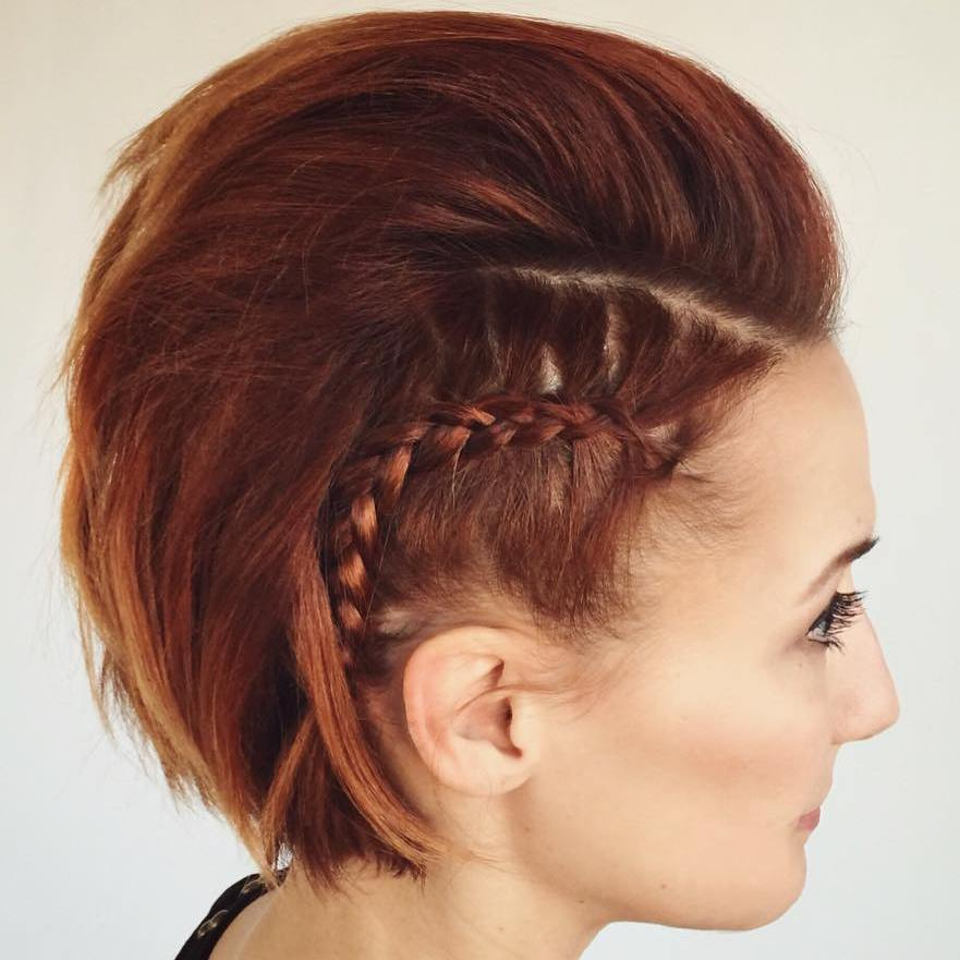 9 mohawk with side braids for bob