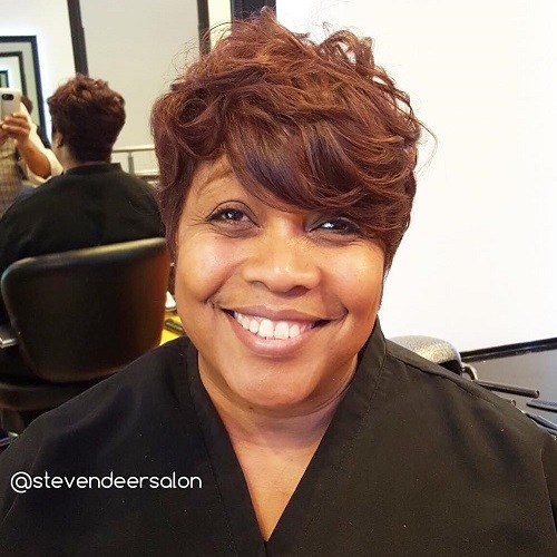 9 short tousled hairstyle for black women