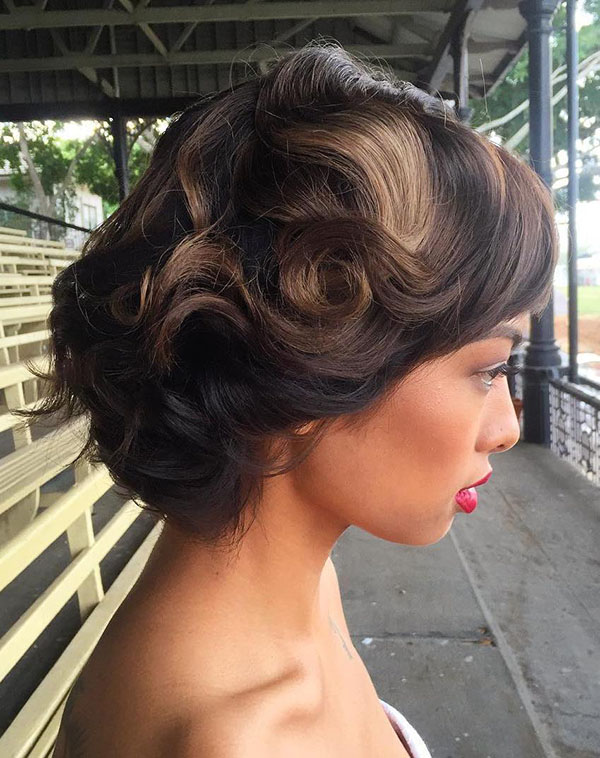 9 vintage wedding hairstyle for short hair