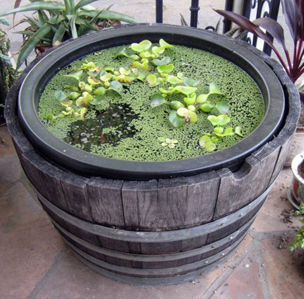 17 Wine Barrel Table