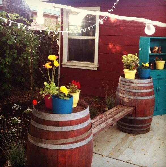 21 Wine Barrel Bench