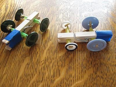 24 Clothespin Button Racer