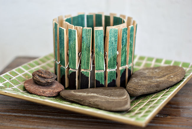 28 Clothespin Candle