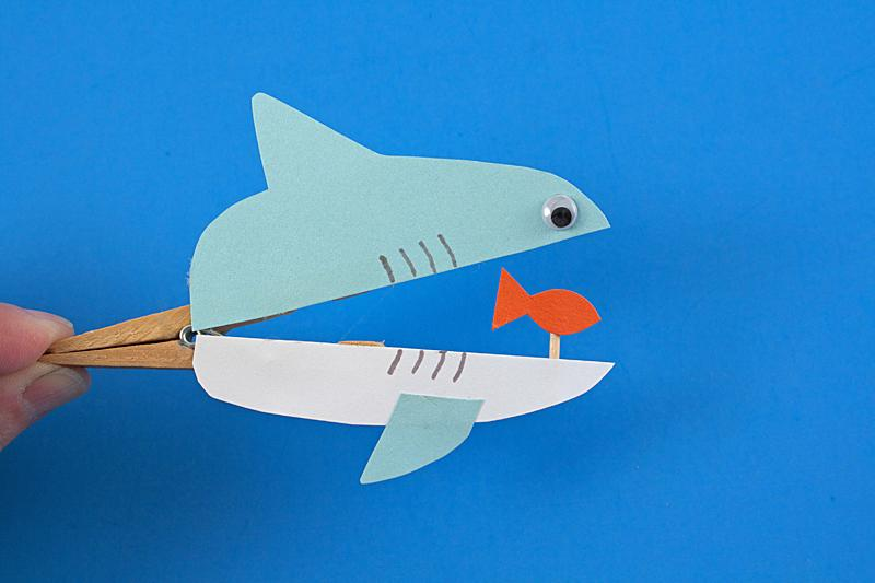 31 Clothespin Sharks