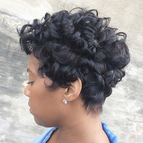 36 short black curly hairstyle