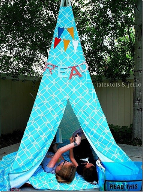 44 Kids Reading Tent Made of PVC Pipes