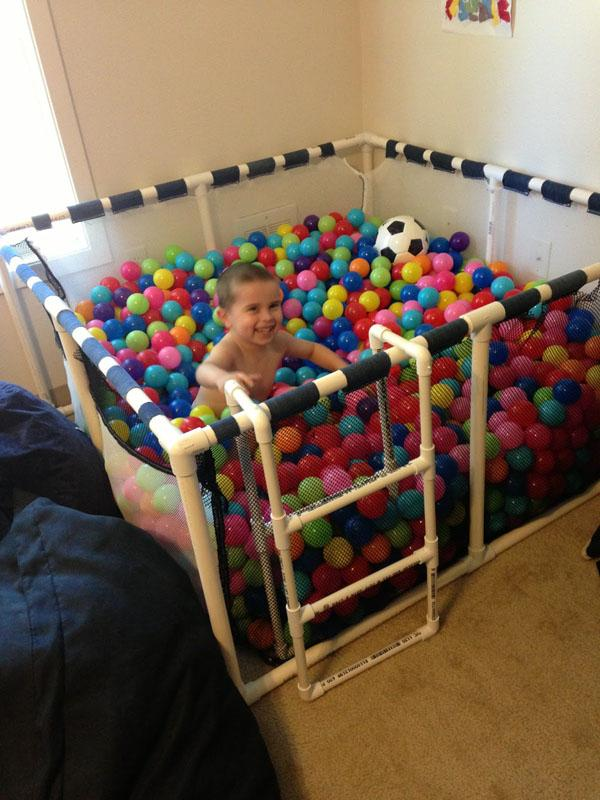 45 Make a ball pit for your child