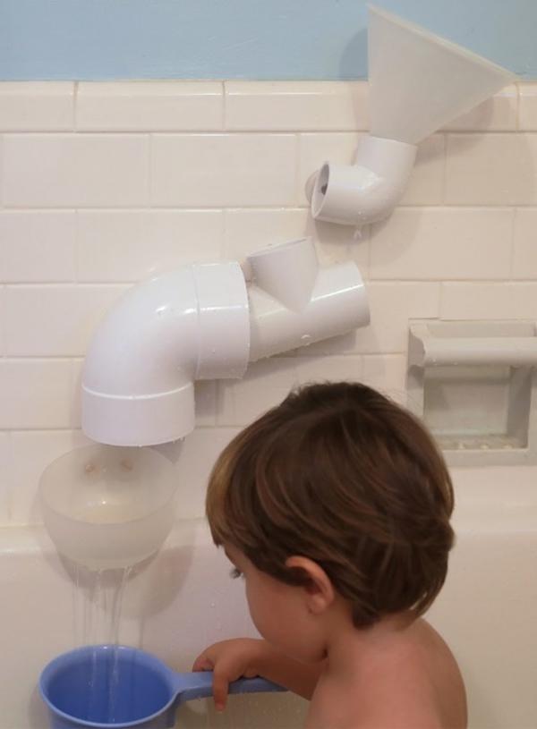 46 Build bath toys using PVC pipe