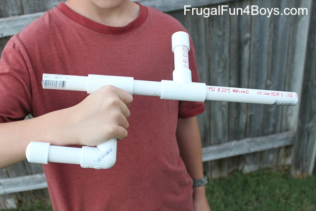 47 Make a marshmallow blow gun out of PVC pipe