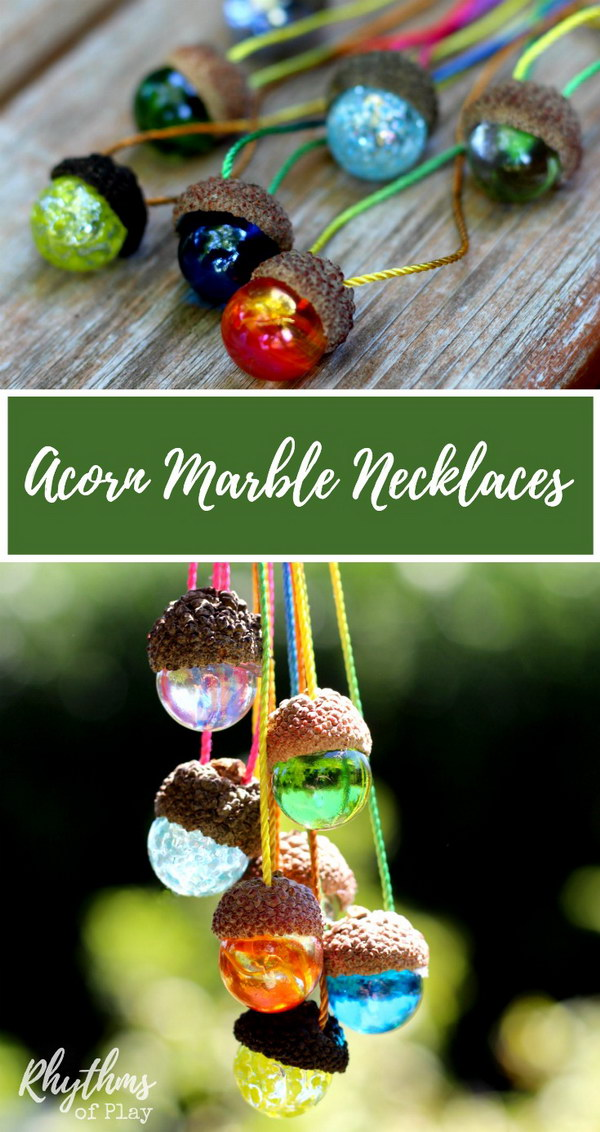 1 DIY Acorn Marble Necklace