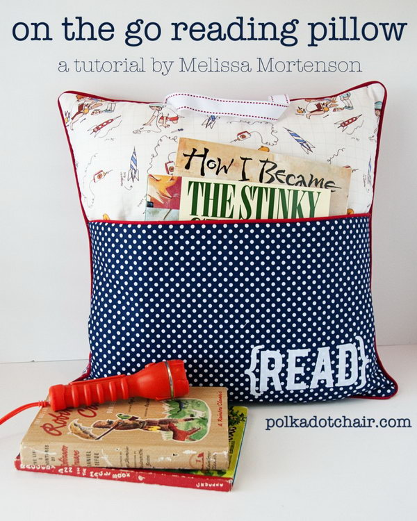 1 DIY Reading Pillow for Book Lovers