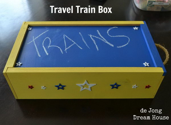 1 DIY Travel Train Box for Kids