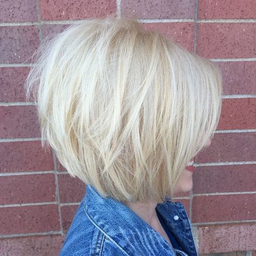 1 chinlength layered bob