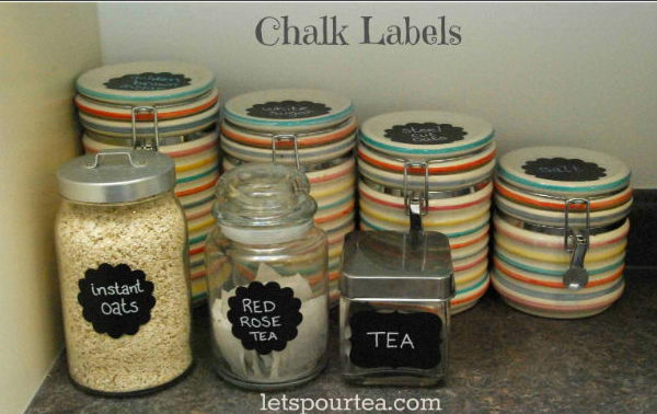 10 Organize Your Kitchen With DIY Chalkboard Labels