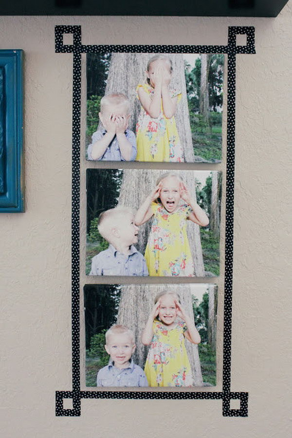10 Use Washi Tape to Add a Fun and Easy Faux-frame
