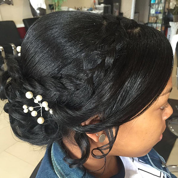 10 black wedding updo for relaxed hair