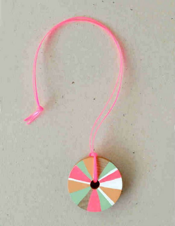 11 DIY Pinwheel Necklace for Girl