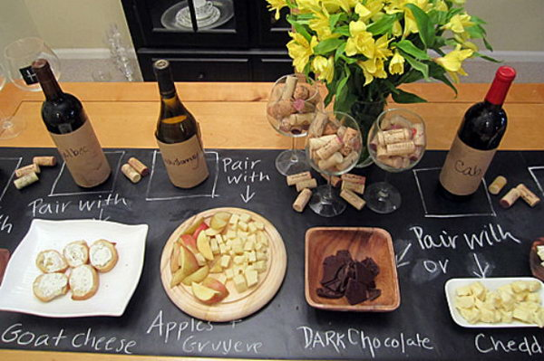 11 Organize Party Foods With Chalkboard Paint