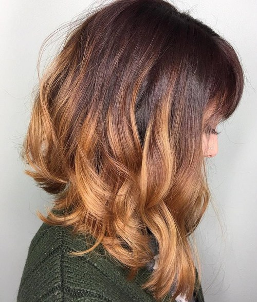 11 curly angled lob with bangs