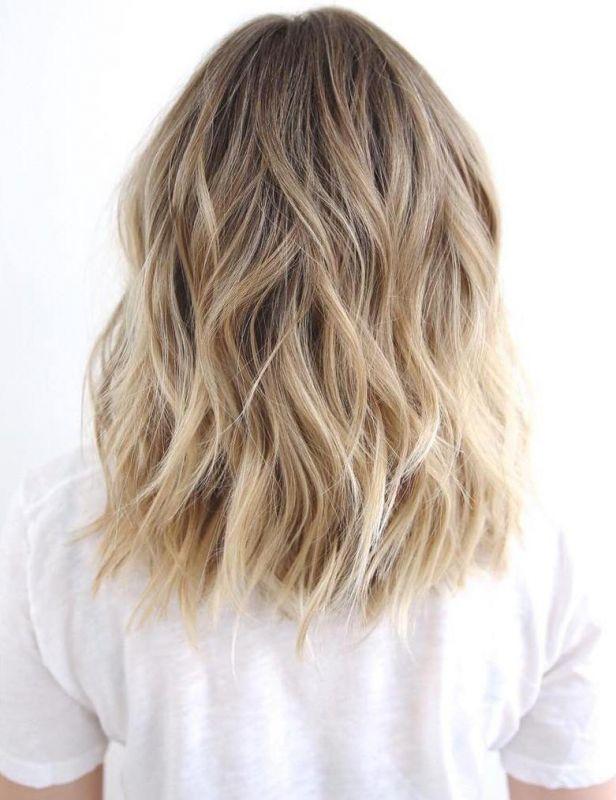 12 medium to long wavy brown blonde hair