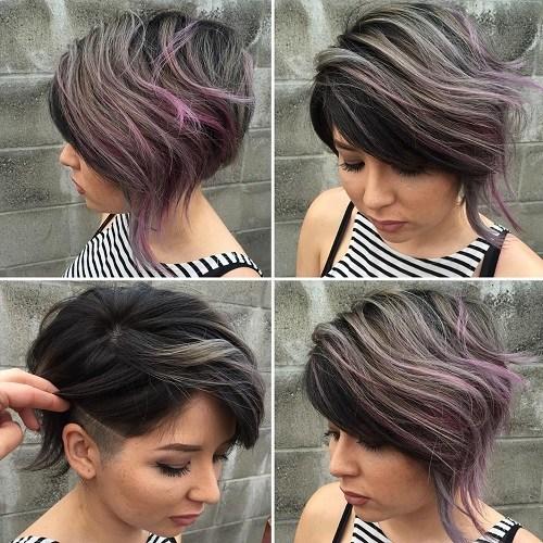 13 short asymmetrical balayage hairstyle