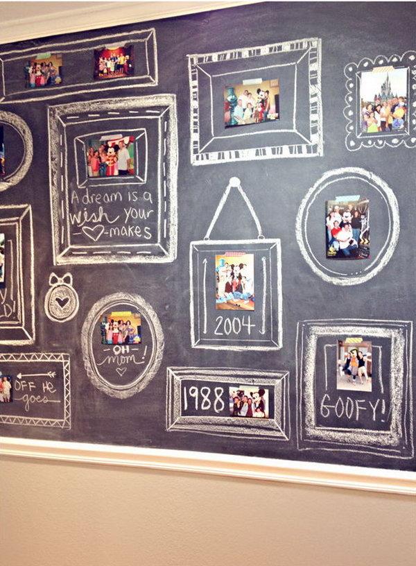 14 Chalkboard Photo Wall
