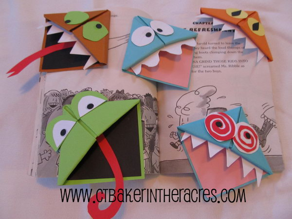 14 Monster Page Corner Bookmarks