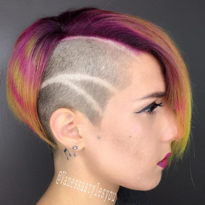 14 punk bob with side undershave