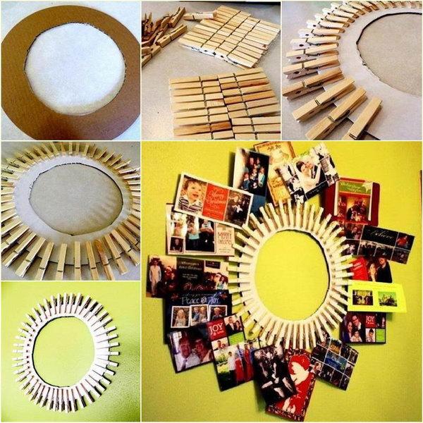 15  DIY Clothespin Photo Frame
