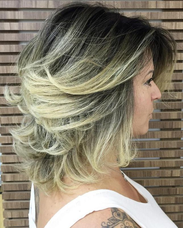 15 blonde balayage shag with black roots
