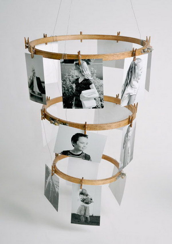 16 Embroidery Hoop Photo Display