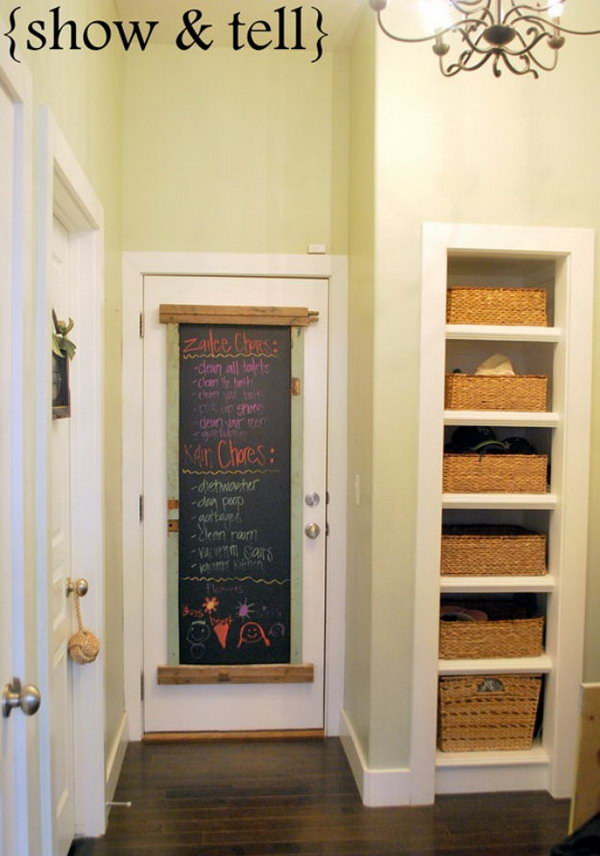 21 Fun and Easy DIY Chalkboard Ideas – Page 16 – Foliver blog