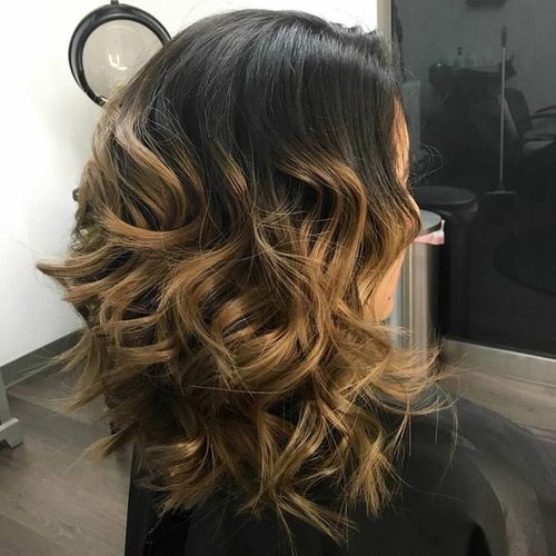 16 black to light brown ombre balayage