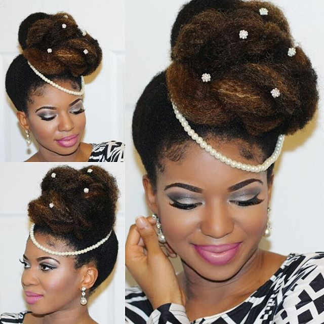16 high asymmetrical bun for natural hair