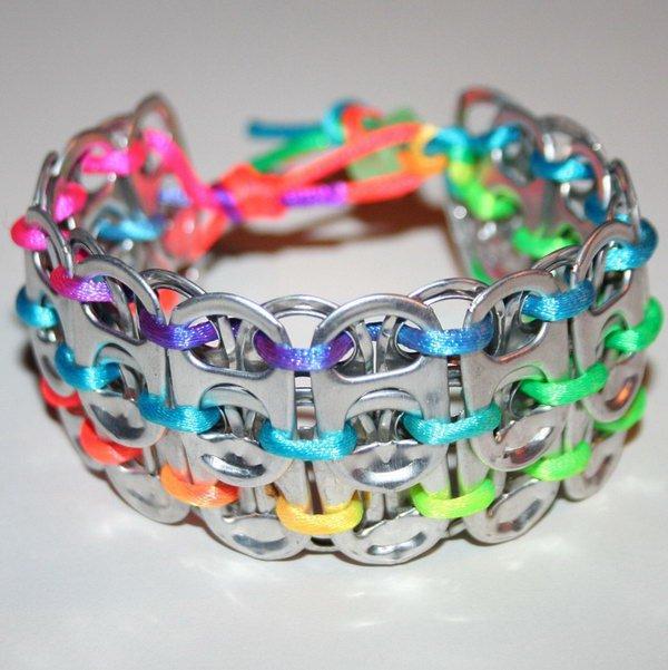 17 Pop Can Tab Cuff Bracelet
