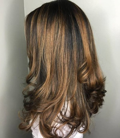 17 brown and caramel balayage hair