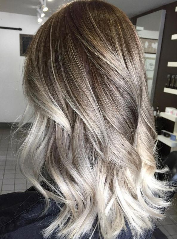 18 ash blonde ombre balayage