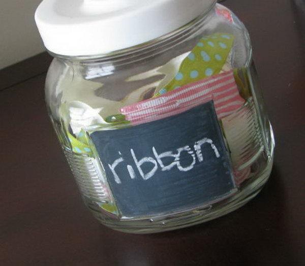 19 DIY Dollar Store Chalkboard Jars