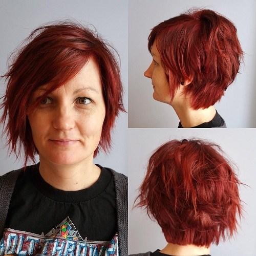 19 choppy short haircut for women over 40