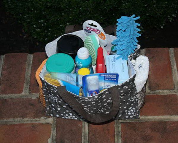 2 College Care Box Filled with Cleaning Supplies