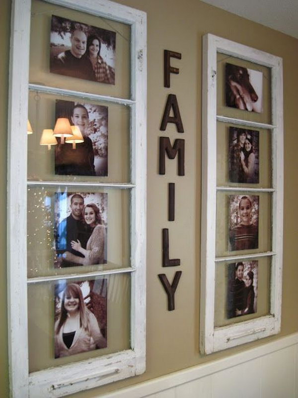 2  Old Wooden Window Photo Frames