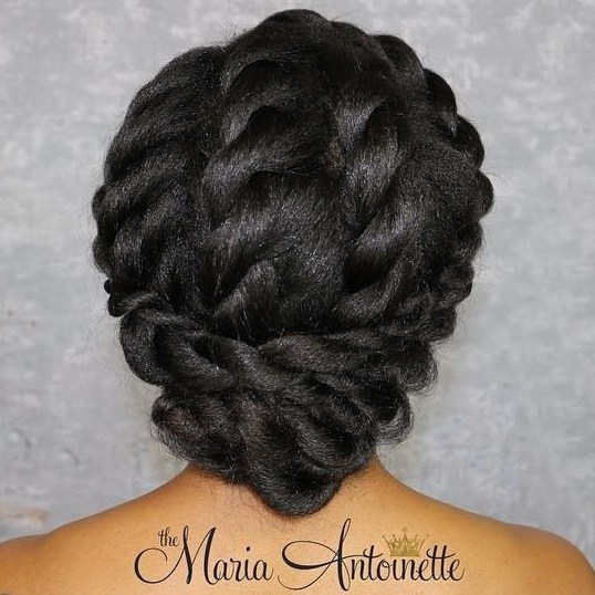 2 elegant twisted updo for black hair