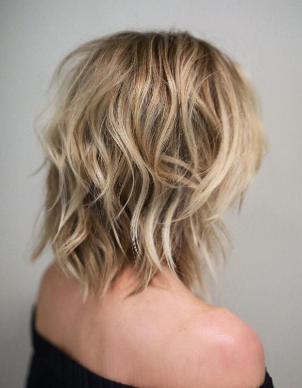 2 shoulderlength medium shaggy haircut
