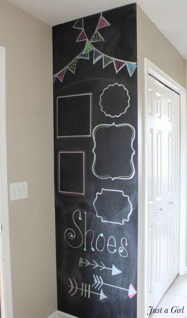 20 DIY Chalkboard Wall for Kids' Room