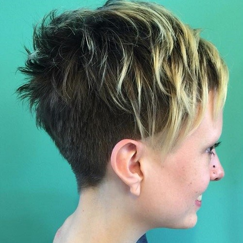 20 choppy undercut pixie with highlights