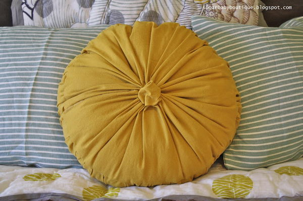 21 Anthropologie Rosette Round Pilliow Knock-Off