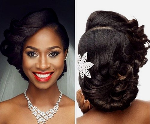 21 asymmetrical loose updo for black women