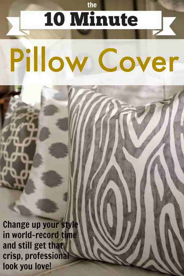 22 The 10 Minute DIY Pillow Cover